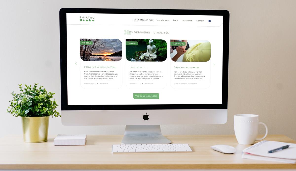 Shiatsu Kenko - Site internet