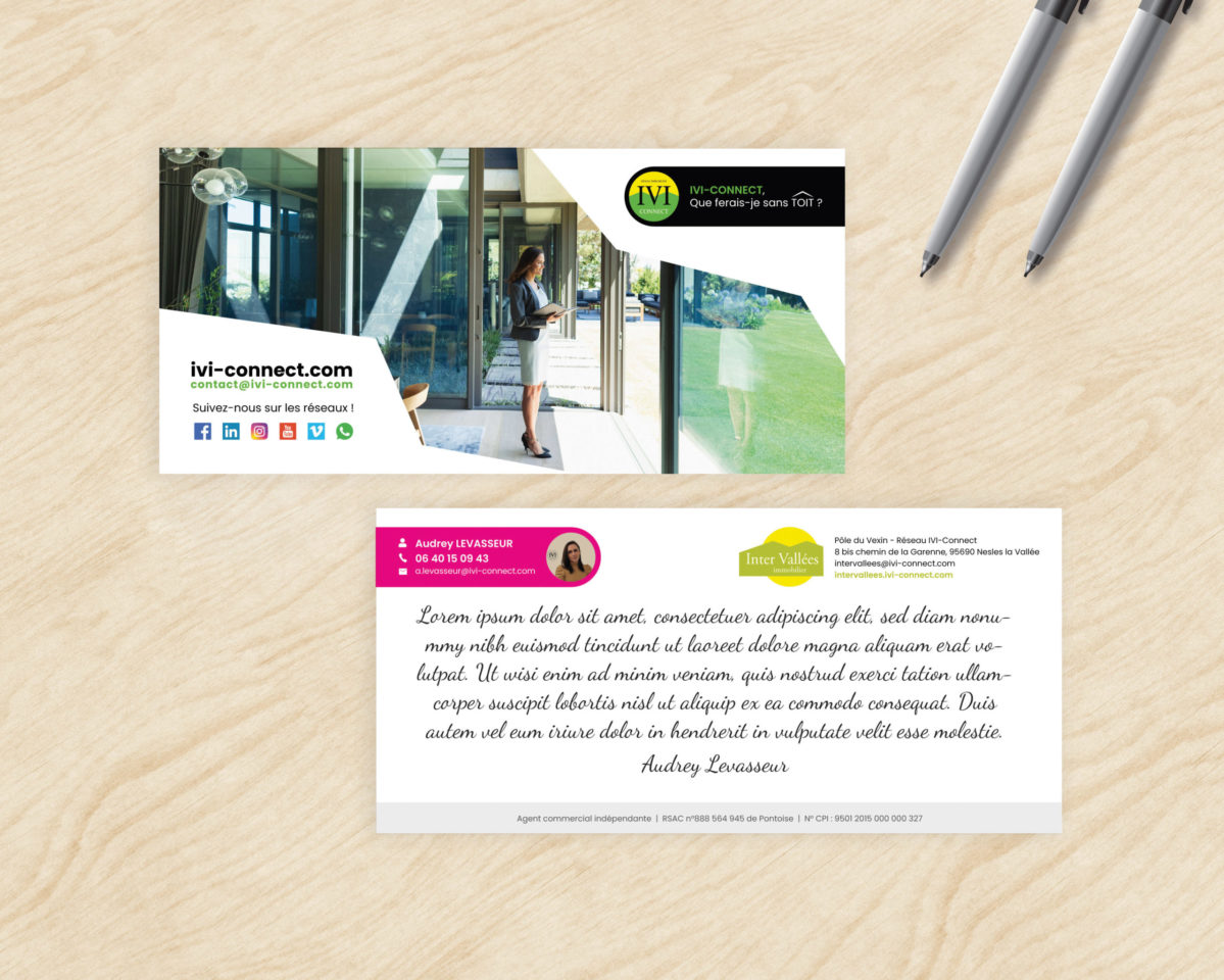 IVI-Connect - Communication print / Cartes de correspondance