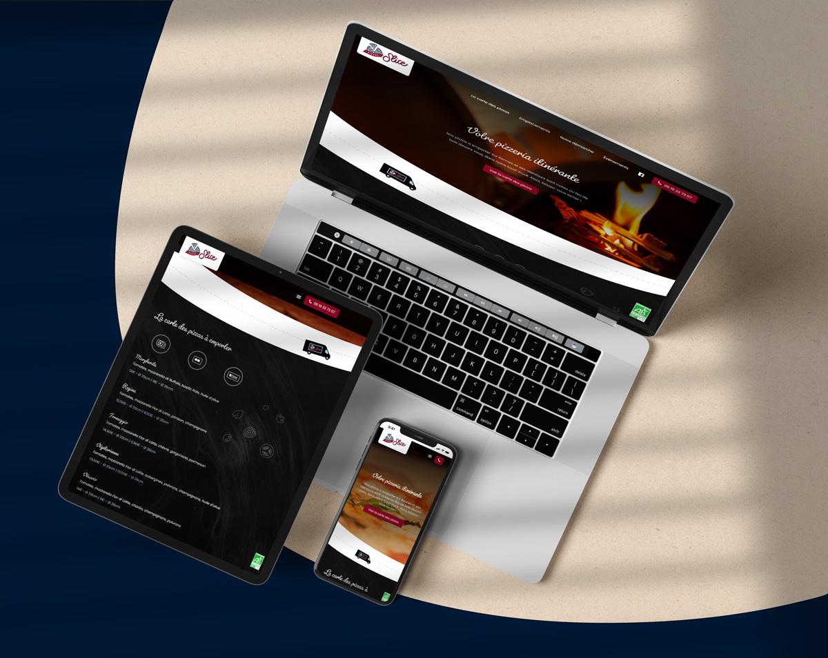 Slice Pizzas - Création site internet